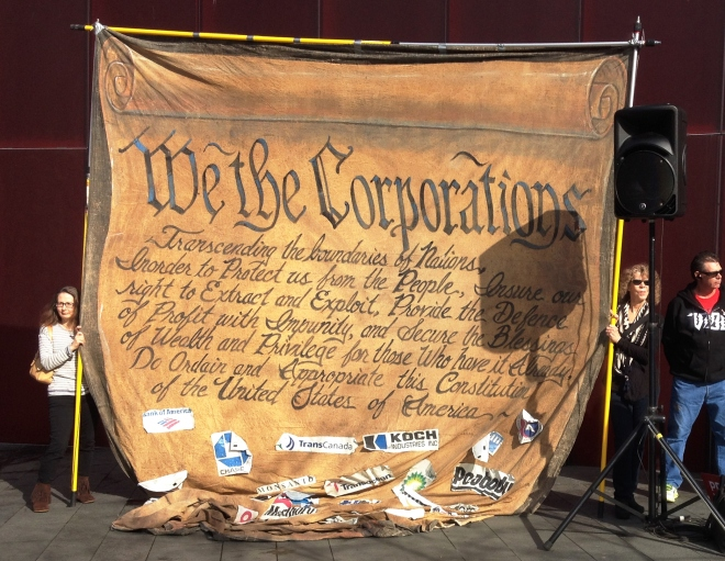 TPP Protest, we the corporations